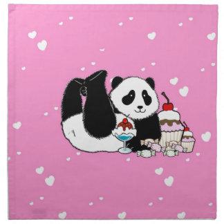 Serviettes En Tissus Pique-nique mignon d'ours panda
