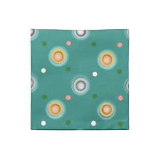 Serviettes En Tissus Polka verte gaie pointillée