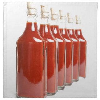 Serviettes En Tissus Sauce d'un rouge ardent