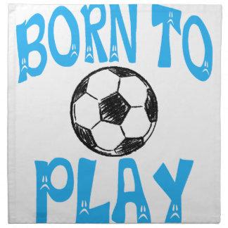 Serviettes En Tissus soutenu pour jouer au football