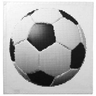 Serviettes En Tissus ⚽ tramé de ballon de football du football aka