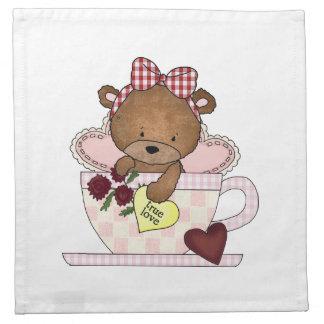 Serviettes En Tissus Véritable ours de nounours d'amour