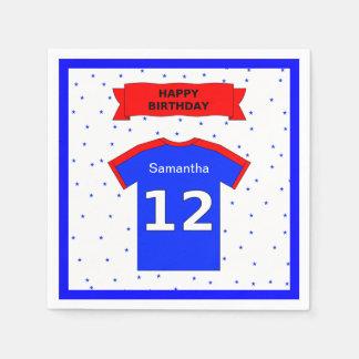 Serviettes Jetables 12ème nom de coutume de fête d'anniversaire