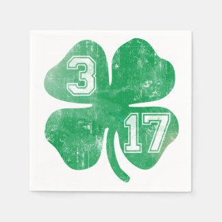 Serviettes Jetables 3/17 shamrock de Jour de la Saint Patrick