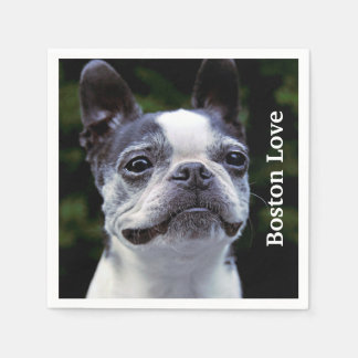 Serviettes Jetables Amour de Boston Terrier