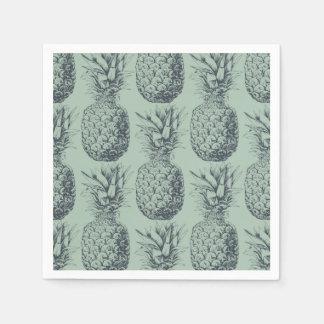 Serviettes Jetables Ananas, conception de motif de fruit tropical