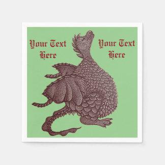 Serviettes Jetables art mythique de créature d'imaginaire de dragon