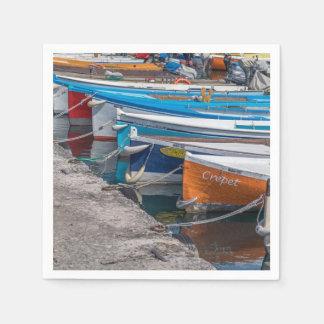 Serviettes Jetables Bateaux de pêche colorés