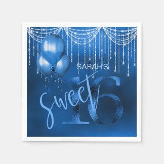 Serviettes Jetables Bonbon 16 DK ID473 bleu à lumières et à ballons de