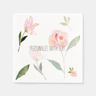 Serviettes Jetables Bonjour belle aquarelle florale