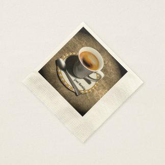 Serviettes Jetables Bonjour, bon café