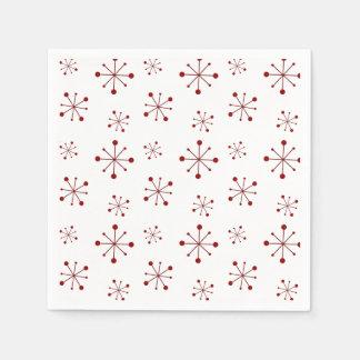 Serviettes Jetables Canneberge étoilée de flocons de neige