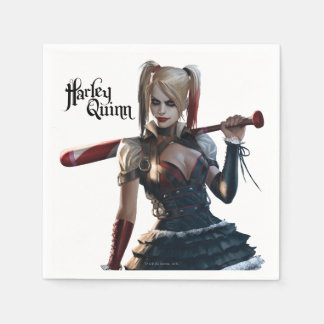 Serviettes Jetables Chevalier de Batman Arkham | Harley Quinn avec la