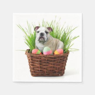 Serviettes Jetables Chien de bouledogue de Pâques