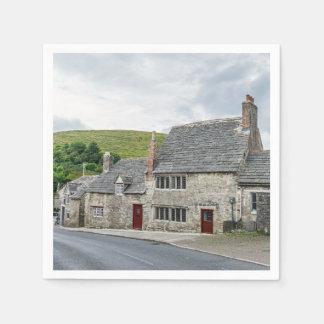 Serviettes Jetables Cottages en pierre en Angleterre