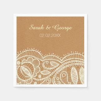 Serviettes Jetables Dentelle et mariage de papier d'emballage
