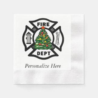 Serviettes Jetables Département du feu de Noël