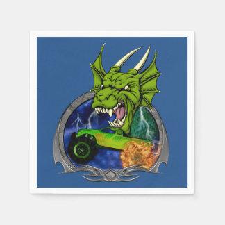 Serviettes Jetables Dragon de camion de monstre
