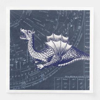 Serviettes Jetables Dragon sur le diagramme de Bue Gobal