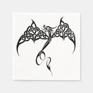 Serviettes Jetables Dragon tribal celtique