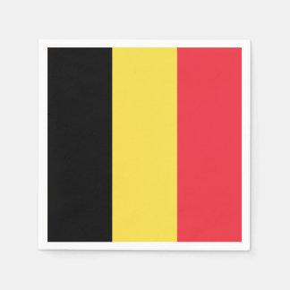 Serviettes Jetables Drapeau belge patriotique