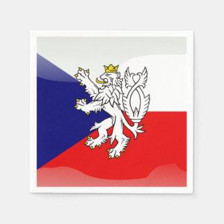 Serviettes Jetables Drapeau brillant tchèque