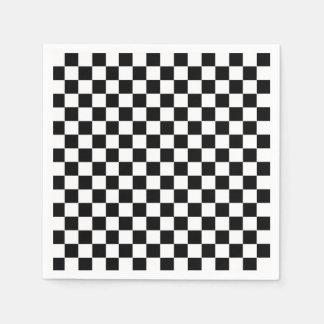Serviettes Jetables Drapeau Checkered