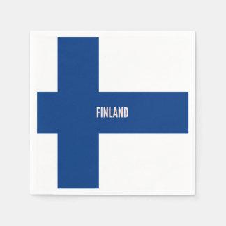 Serviettes Jetables Drapeau de la Finlande