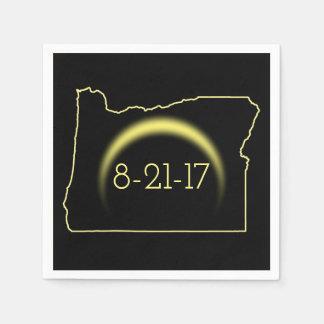 Serviettes Jetables Éclipse solaire totale Orégon 2017