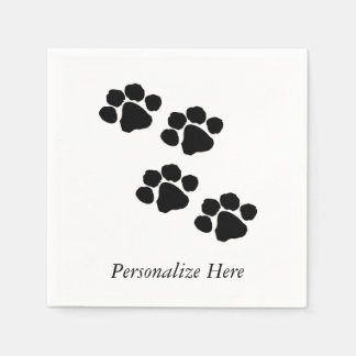 Serviettes Jetables Empreintes de pattes pour des amoureux des animaux