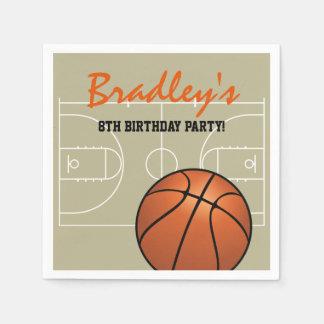 Serviettes Jetables Fête d'anniversaire de basket-ball d'enfants
