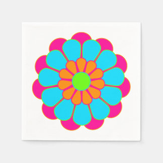 Serviettes Jetables Fleur drôle III de flower power