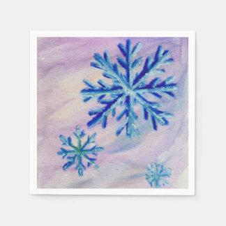 Serviettes Jetables Flocons de neige