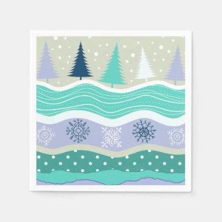 Serviettes Jetables Flocons de neige Scrapbooking d'arbres de Noël