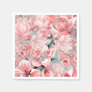 Serviettes Jetables flowers2bflowers et #flowers de motif d'oiseaux