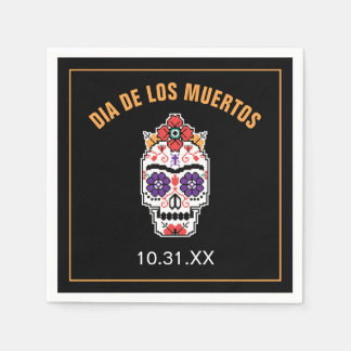 Serviettes Jetables Frida Kahlo | Dia De Los Muertos