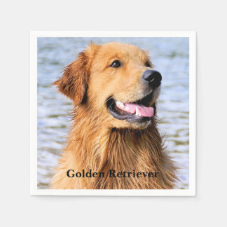 Serviettes Jetables Golden retriever