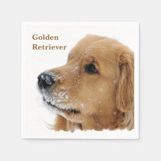 Serviettes Jetables Golden retriever de chien de neige