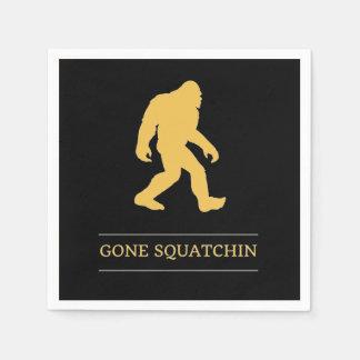 Serviettes Jetables Grand Squatchin allé par pied drôle Sasquatch