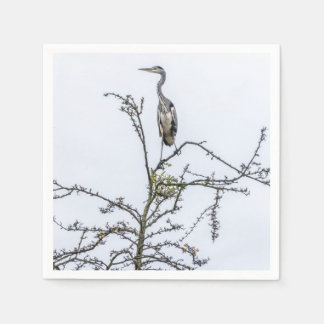Serviettes Jetables Héron sur un arbre