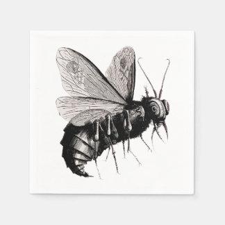 Serviettes Jetables Insecte ailé de crâne gothique déplaisant