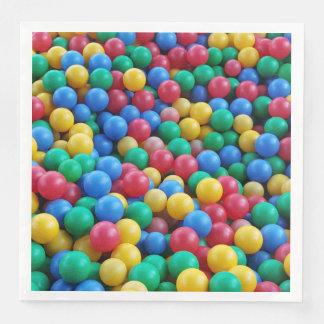 Serviettes Jetables Jeu coloré d'enfants de boules de mine de boule