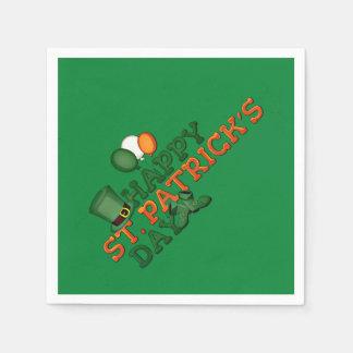 Serviettes Jetables Jour de la Saint Patrick heureux embelli
