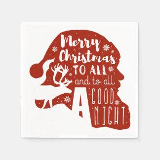 Serviettes Jetables Joyeux Noël à tous