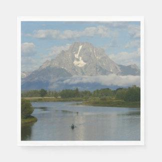 Serviettes Jetables Kayaking en parc national grand de Teton