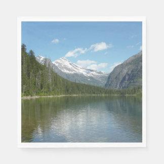Serviettes Jetables Lac I avalanche en parc national de glacier
