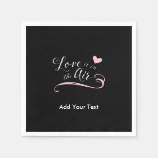 Serviettes Jetables L'amour est dans le ciel - Saint-Valentin ou
