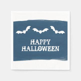 Serviettes Jetables L'aquarelle blanche bleue manie la batte Halloween