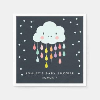 Serviettes Jetables Le bébé de serviette de papier de nuage arrosent