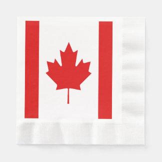 Serviettes Jetables Le drapeau de feuille d'érable du Canada